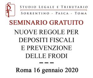 Seminario gratuito sulle nuove regole per depositi fiscali e prevenzione delle frodi