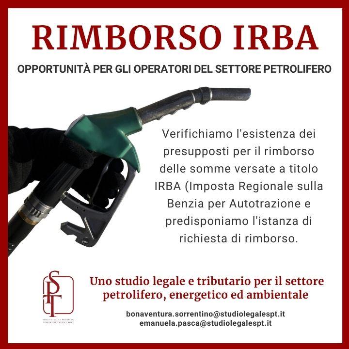 SOPPRESSIONE DELL'IMPOSTA REGIONALE SULLA BENZINA PER AUTOTRAZIONE-DIRITTO AL RIMBORSO